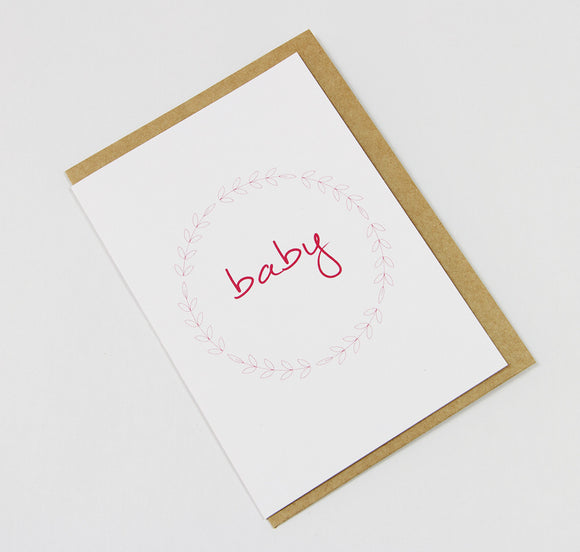 Baby Wreath Pink A6 Card-Gift Card-white linen-dear mabel