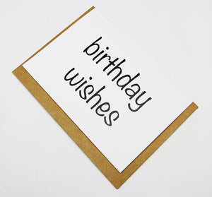 birthday wishes A6 Card-Gift Card-white linen-dear mabel