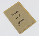 Bride And Groom A6 Card-Gift Card-kraft-dear mabel