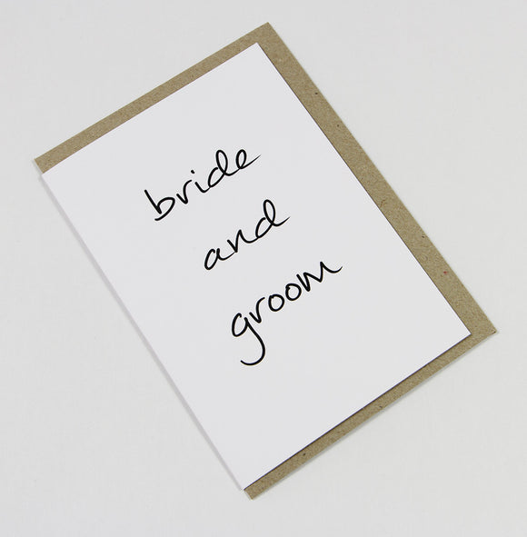 Bride And Groom A6 Card-Gift Card-white linen-dear mabel