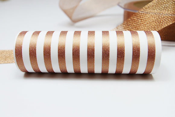 Candy Stripe Copper Wrap Band-Wrap Band-dear mabel