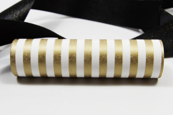 Candy Stripe Gold Wrap Band-Wrap Band-dear mabel