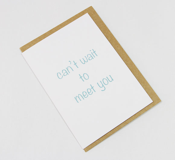 can't wait to meet you A6 Card-Gift Card-white linen-dear mabel