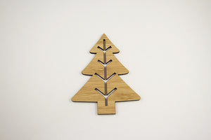 Christmas Tree Bamboo ornament-Bamboo Ornament, christmas-dear mabel