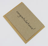 Congratulations A6 Card-Gift Card-kraft-dear mabel