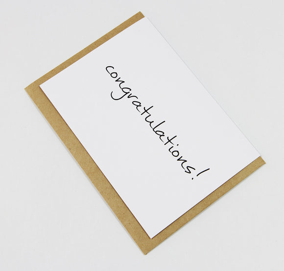 Congratulations A6 Card-Gift Card-white linen-dear mabel