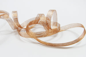 Copper Aria Ribbon - 10mm-Ribbon-dear mabel