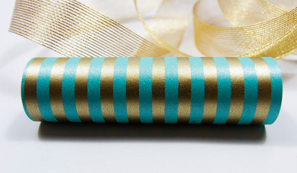 Candy Cane Turquoise Gold Wrap Band