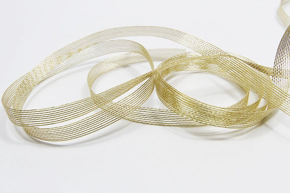 Aria Antique Gold Ribbon - 10mm  3metre length