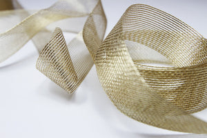 Aria Antique Gold Ribbon - 25mm  5 metre length