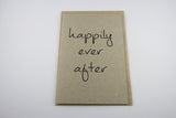 Happily Ever After A6 Card-Gift Card-kraft-dear mabel