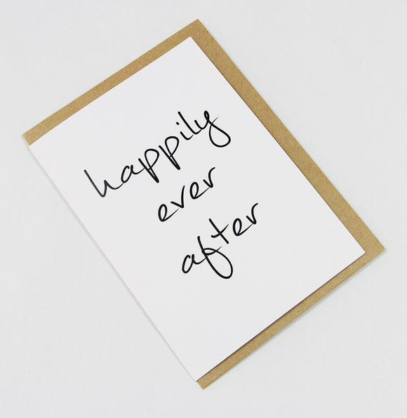 Happily Ever After A6 Card-Gift Card-white linen-dear mabel