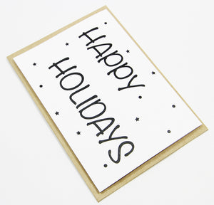 Happy Holidays A6 Card-Gift Card-white linen-dear mabel