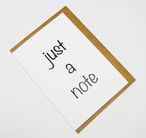 just a note A6 Card-Gift Card-white linen-dear mabel
