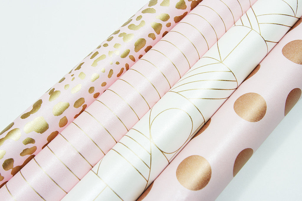 ... Leopard Cameo Pink Gold Gift Wrap-gift wrap-dear mabel ...