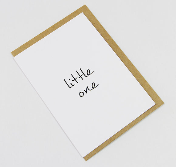 little one A6 Card-Gift Card-white linen-dear mabel
