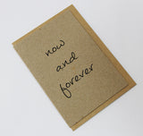 Now And Forever A6 Card-Gift Card-kraft-dear mabel