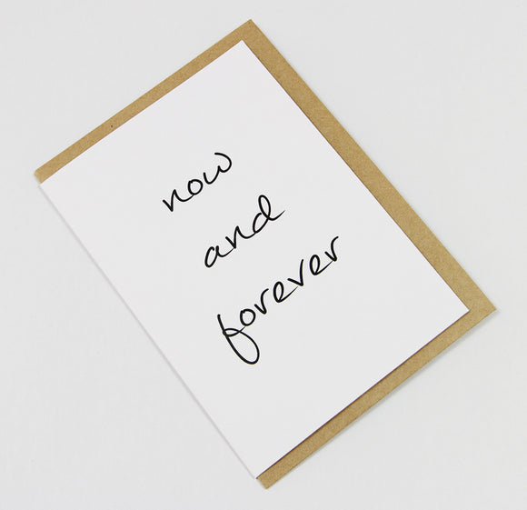 Now And Forever A6 Card-Gift Card-white linen-dear mabel