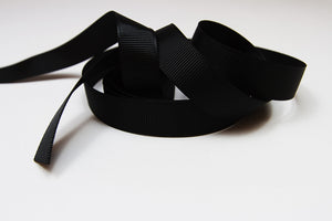 Plain Grosgrain Black Ribbon - 15mm-Ribbon-dear mabel