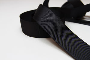 Plain Grosgrain Charcoal Ribbon - 25mm-Ribbon-dear mabel