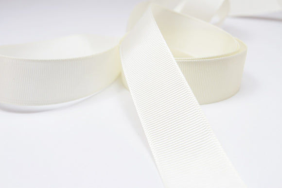 Plain Grosgrain Ivory Ribbon - 25mm-Ribbon-dear mabel