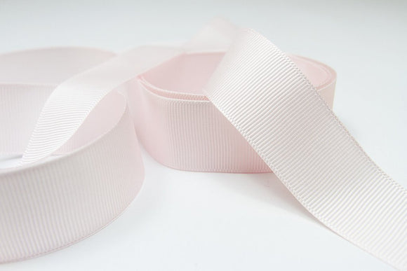 Plain Grosgrain Pink Ribbon - 25mm  3 metres