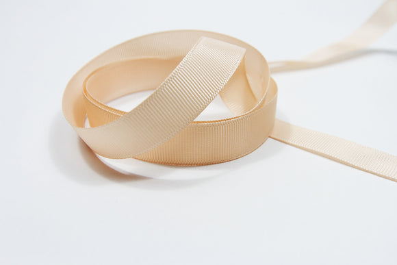 Plain Grosgrain Peach Ribbon - 15mm-Ribbon-dear mabel