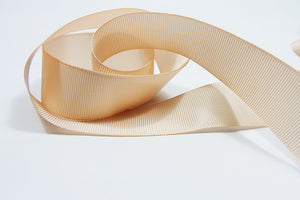 Plain Grosgrain Peach Ribbon - 25mm-Ribbon-dear mabel