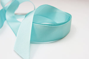 Plain Grosgrain Teal Ribbon - 25mm-Ribbon-dear mabel