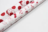Santa Dots Red Gift Wrap-gift wrap-dear mabel