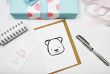 Teddy A6 Card-Gift Card-dear mabel