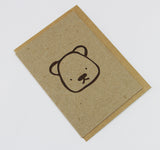 Teddy A6 Card-Gift Card-kraft-dear mabel