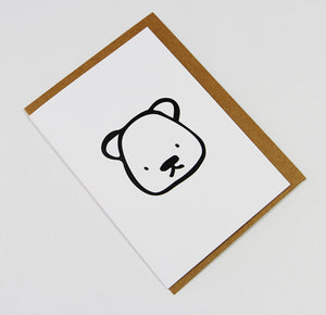 Teddy A6 Card-Gift Card-white linen-dear mabel
