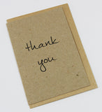 Thank You A6 Card-Gift Card-kraft-dear mabel