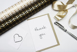 Thank You A6 Card-Gift Card-white linen-dear mabel