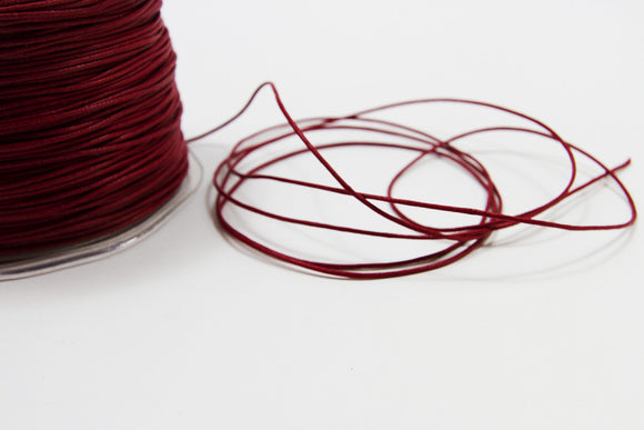 Waxed Cotton Red String - 1mm-Ribbon-dear mabel
