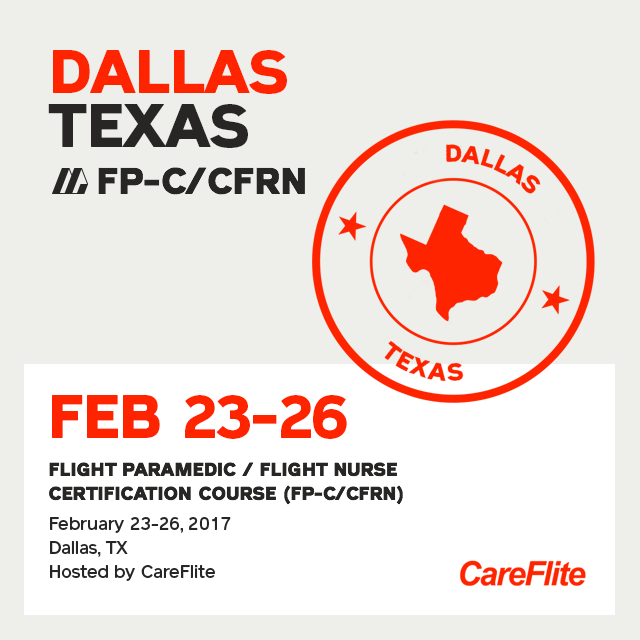 [Archived] Flight Paramedic Prep (Texas Feb 17)- FP-C/CFRN