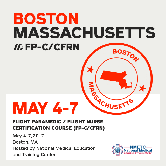 [Archived] Flight Paramedic Prep (Boston May 2017) - FP-C/CFRN