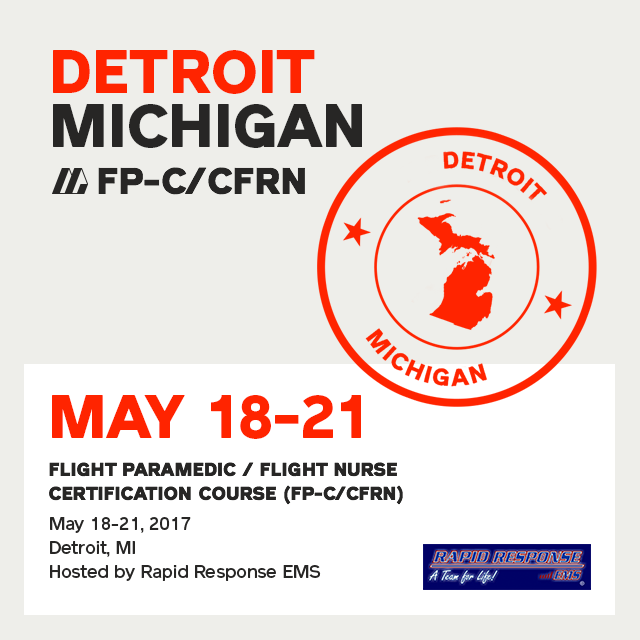 [Archived] Flight Paramedic Prep (Michigan May 17) - FP-C/CFRN