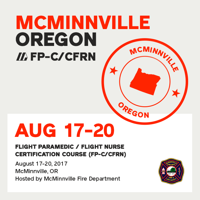 Flight Paramedic Prep (Oregon Aug 17) - FP-C/CFRN