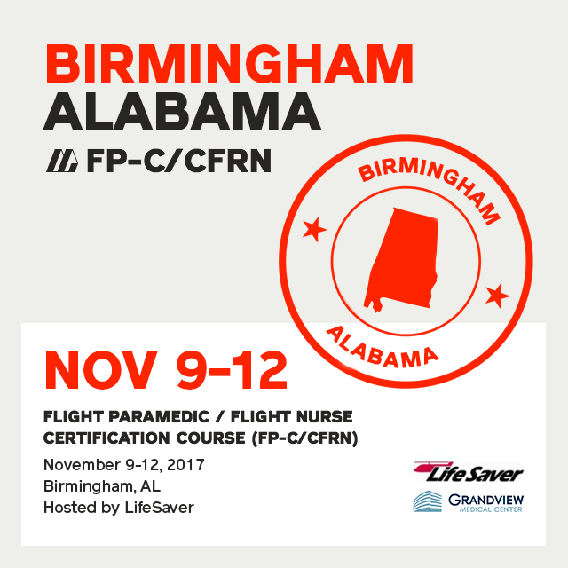 [Archived] Flight Paramedic Prep - Alabama Nov 2017 - (FP-C/CFRN/CCP-C)