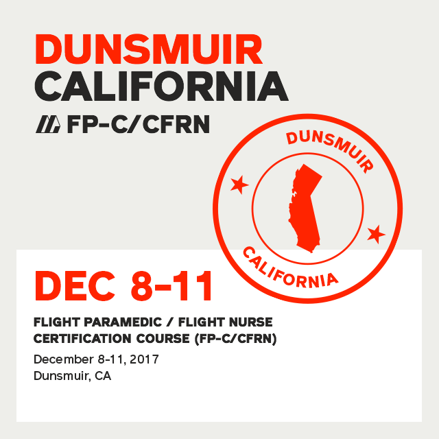 Flight Paramedic Prep (California Dec 17) - FP-C/CFRN