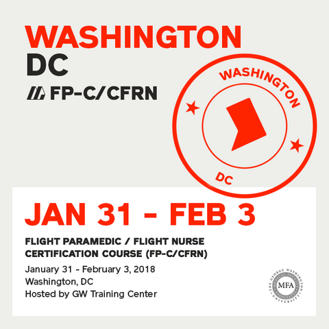 Flight Paramedic Prep - Washington DC Jan 2018 - (FP-C/CFRN/CCP-C)
