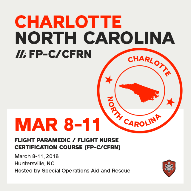 FP-C/CFRN Course in North Carolina//// 8-11 March 2018 – IA MED