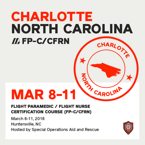 Flight Paramedic Prep - North Carolina Mar 2018 - (FP-C/CFRN/CCP-C)