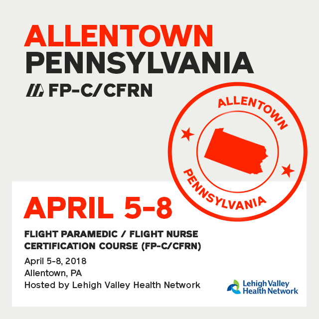 [Archive] Flight Paramedic Prep - Pennsylvania Apr 2018 - (FP-C/CFRN/CCP-C)