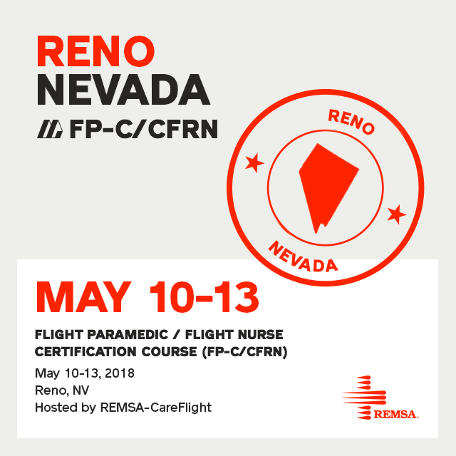 Flight Paramedic Prep - Nevada May 2018 - (FP-C/CFRN/CCP-C)