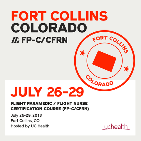 Flight Paramedic Prep - Colorado July 2018 - (FP-C/CFRN/CCP-C)