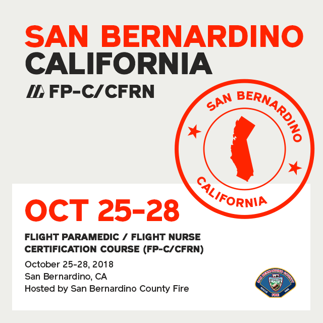 Flight Paramedic Prep - California Oct 2018 - (FP-C/CFRN/CCP-C)