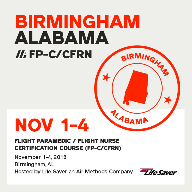 Flight Paramedic Prep - Alabama Nov 2018 - (FP-C/CFRN/CCP-C)